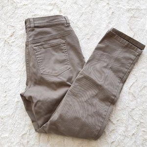 tan brown denim cotton pants Gloria Vanderbilt